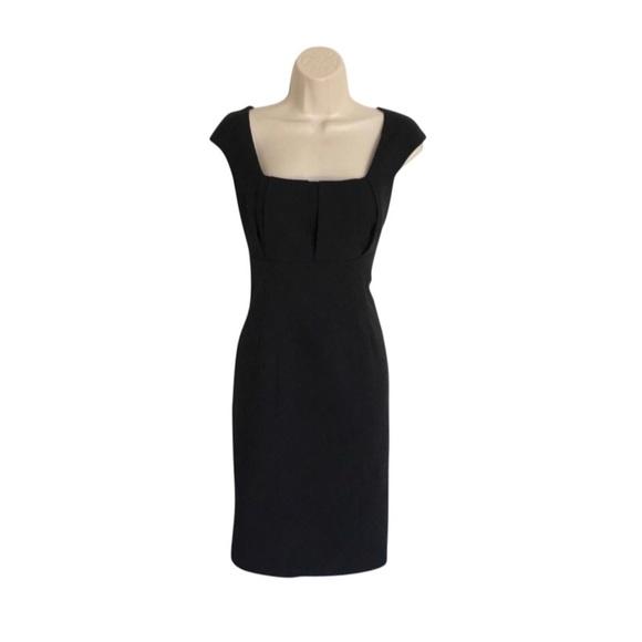 Calvin Klein Dresses Cap Sleeve Pleated Bust Shift Dress Poshmark
